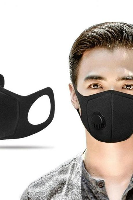 2Pcs Respiratory Dust Mask Upgraded Version Men Women Anti-fog Haze Pm2.5 Pollen 3D Cropped Breathable Valve Mouth Mask