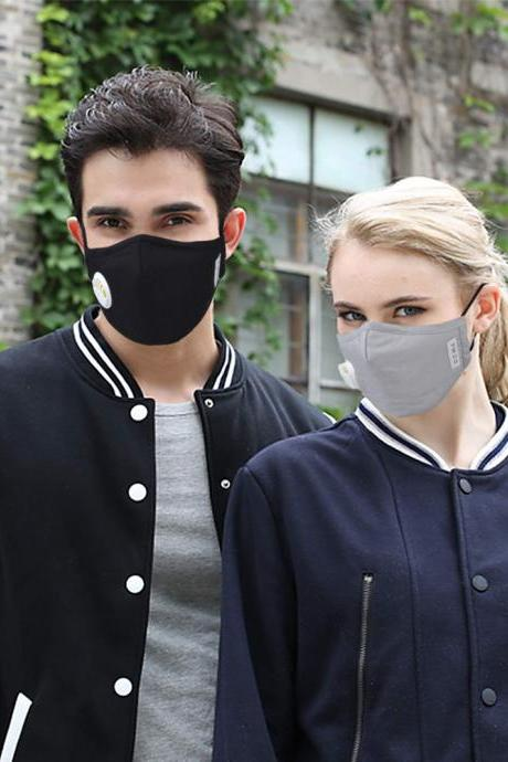 Washable Adult Unisex Cotton Breath Valve PM2.5 Mouth Mask Anti-Dust Activated Carbon Filter Respirator Mouth-muffle