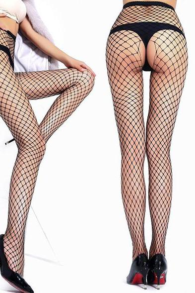 Sexy woman lingerie erotic stockings jeans mesh hole open bottom crotch fishnet erotic stockings intimate items for sex