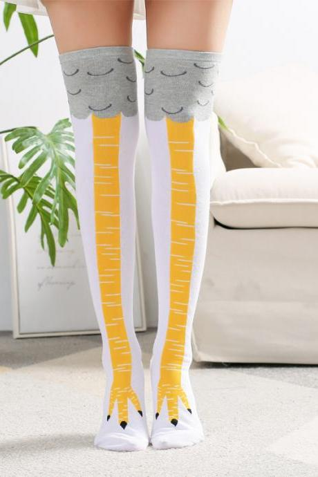 3d cartoon socks long socks women long socks hot socks high for ladies girls new fashion over the knee female socks-2