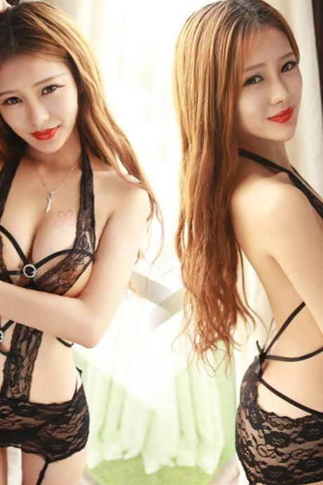 Sexy Hot Women Lace Clothing Female Costume Sexy See Through Lingerie Lingerie Sleepwear