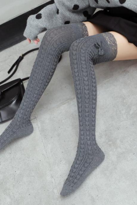 Over-the-knee Heap Socks-4-25-14