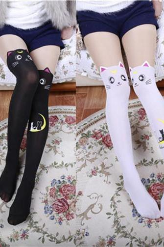 Over-the-knee Heap Socks-4-25-90