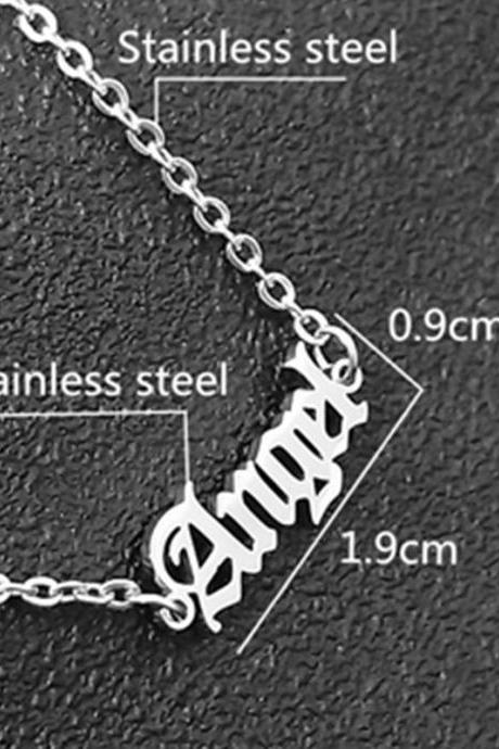 Women summer sexy anklet bracelet beach crochet stainless steel sandals chain angle initial foot pulsera