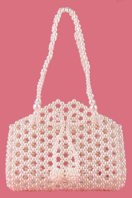 Hadmade Customize Pearl Satchel Bags