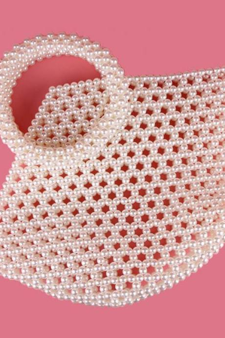 Hadmade Customize Pearl Plain Satchel Bags