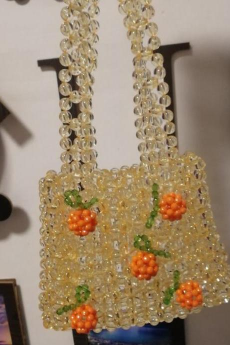 Yellow Cute Hadmade Customize Satchel Fruit Bags