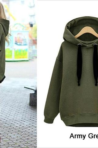 Women's Casual Ladies Long Sleeve Hoodie Sweatshirt Outerwear Coat Pullovers