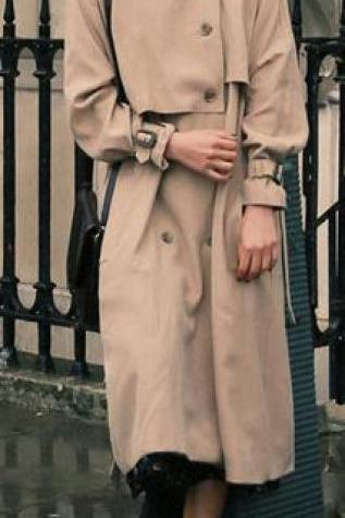 Turn-down Collar Belt Casual Loose Long Coats
