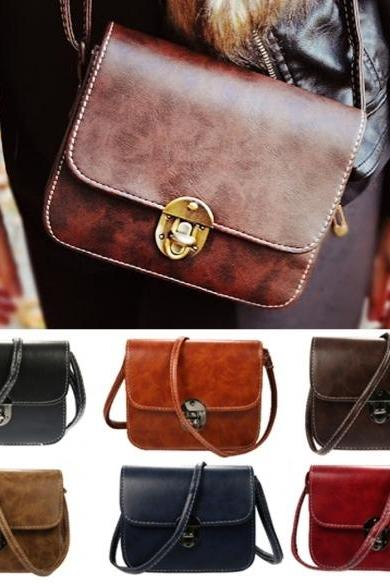 Women's Vintage Style Messenger Bag Flap Bag One Shoulder Bag