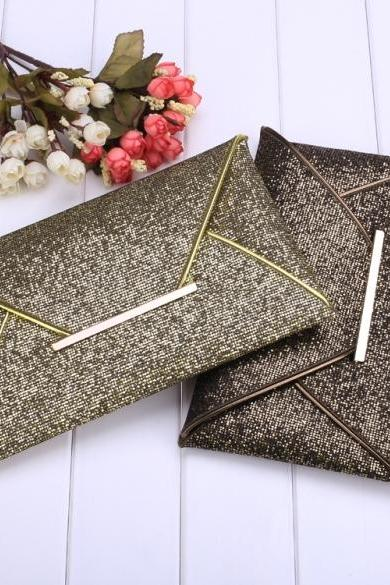 New Fashion Women Sequins Elegant Bag Envelope Bag Clutch Evening Handbag