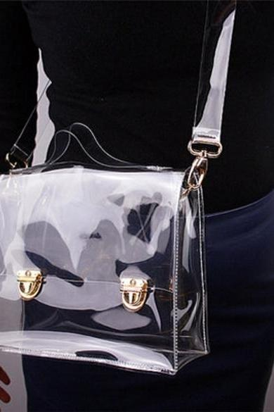 Transparent PVC Crossbody Handbag