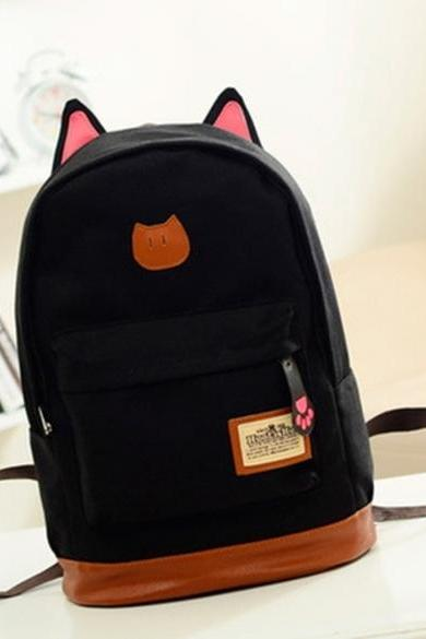 Boys Girls Korean Style Stylish Cool Shoulder Bag Canvas Backpack School Travel Rucksack