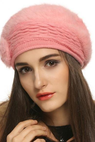 FINEJO Fashion Women's Winter Warm Knitted Hats Beanie Cap 5 Colors
