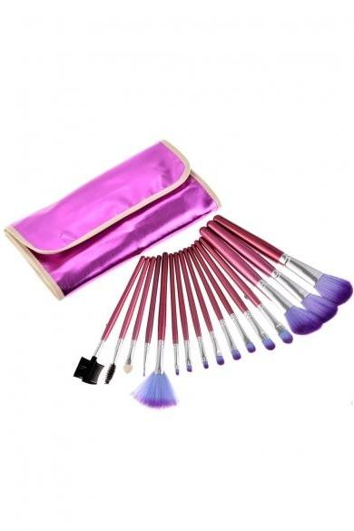 16 Pcs Professional Makeup Cosmetic Eye Shadow Powder Brush Set With Case Bag