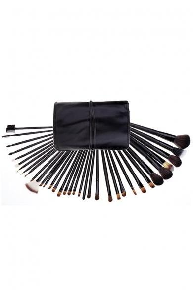 New Good Quality Wood Eyebrow Brush Tools 35 PCs Makeup Cosmetic Set
