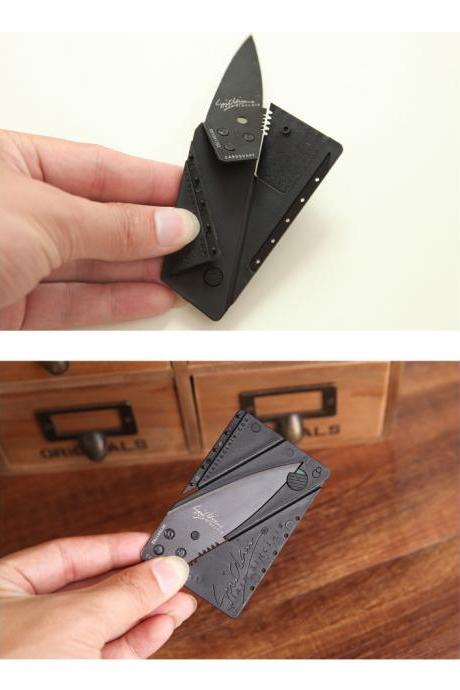 Outdoor folding knife , Folding knife card type creative business card knife