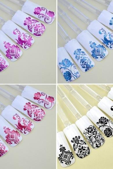 108 PCS/Sheet 3D Design Nail Art Sticker Tips Decal Flower Manicure Stickers New