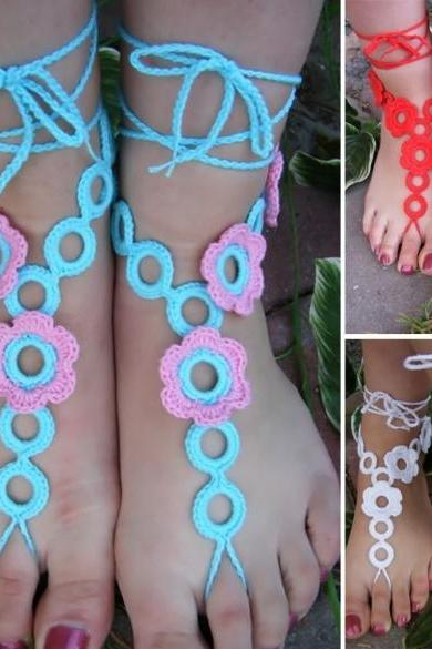 Hot Fashion Stylish Women Lady Barefoot Sandals Crochet Feet Anklet Ankle Chain