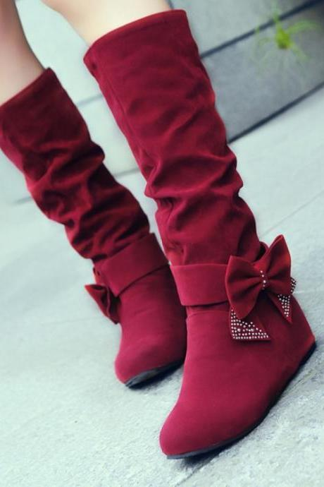 Fashion Increase Bowknot Snow Boots