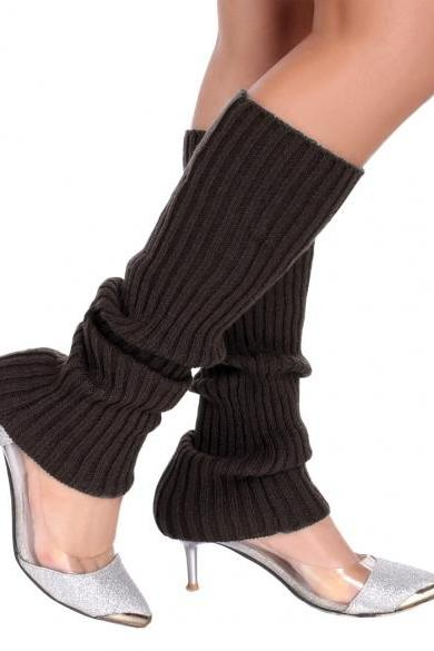 Zeogoo Women Knit Crochet Boot Cuff Leg Warmers Boot Socks Knee High 6 Colors