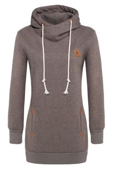 ANGVNS Casual Ladies Women Fashion Autumn Winter Long Hoodies