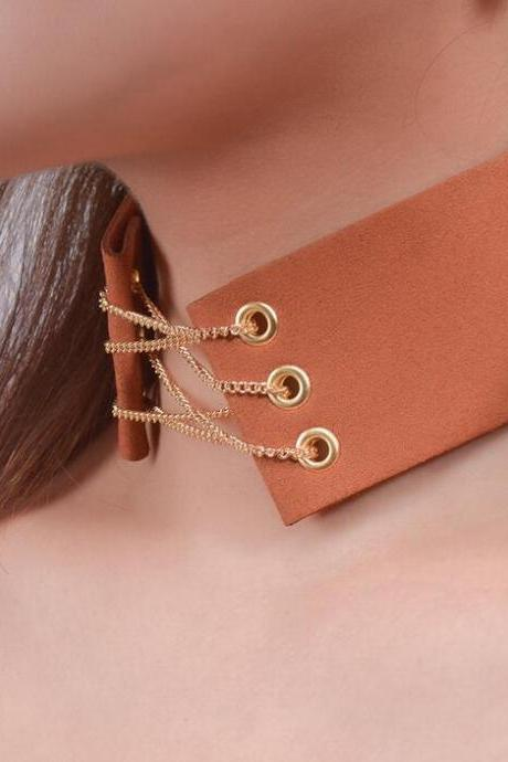 Wide Lint Belt lady's Collars Necklace