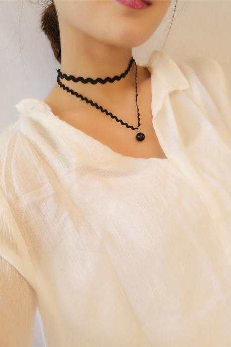 Jane all-match wind cloth Necklace