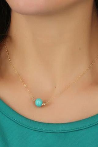 Blue Typhus Pendant Clavicle Necklace