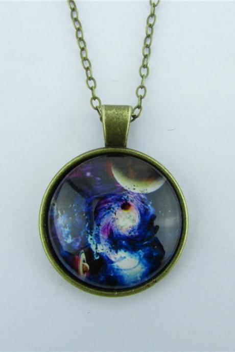 Mystical Planet Starry Sky Diamond Necklace