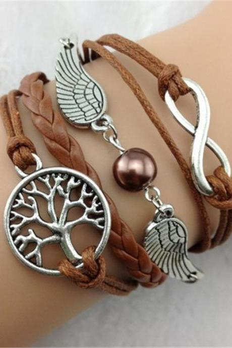 Wings Tree Bright Color Hand-Made Bracelet
