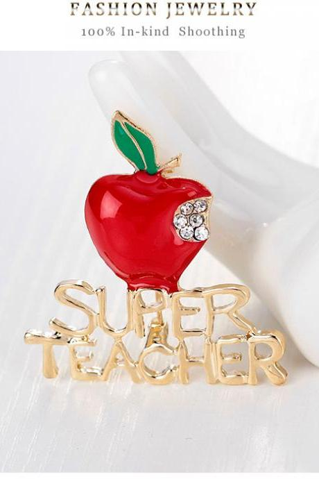 High-grade apple Christmas Brooch