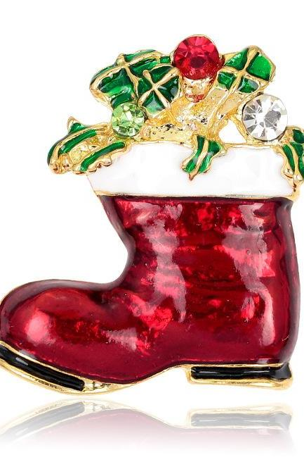 Christmas gift shoes Brooch