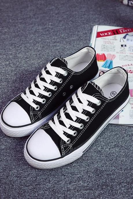 Classic Lace Up Couple Canvas Sneakers