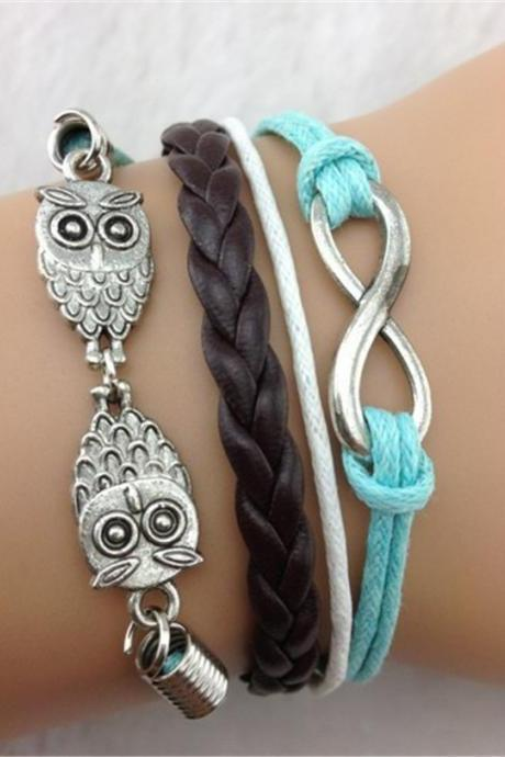Fashion Owl Multicolor Handmade Bracelet