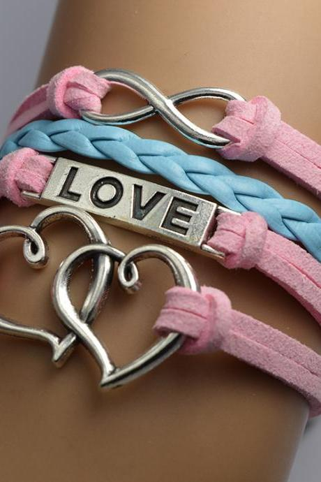 Double Heart Woven Retro Bracelet