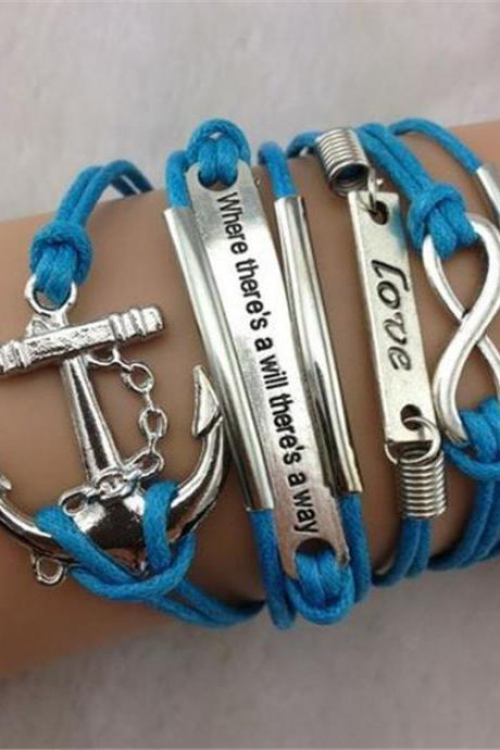 Multilayer Love Anchor Woven Bracelet