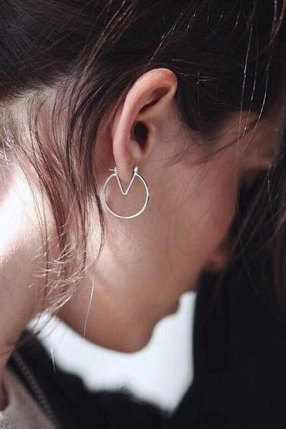 Personality Geometry V Shape Earrings