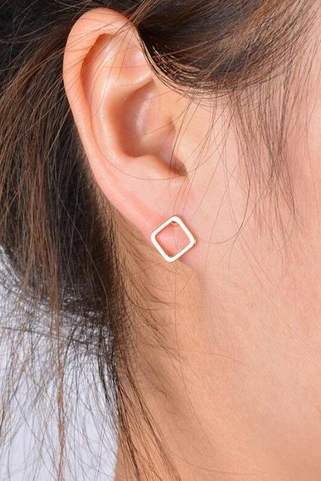 Fashionable Joker Square Stud Earrings
