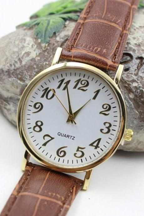 Classic Retro Style Number Watch