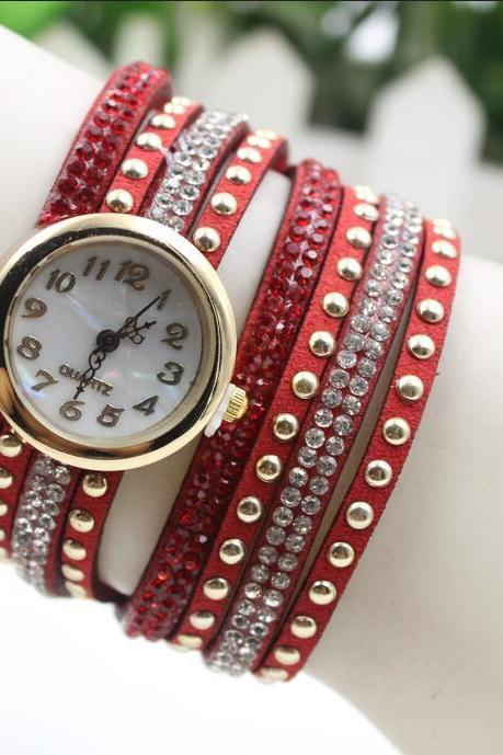 Fashion Crystal Multilayer Women's Beautiful Watch