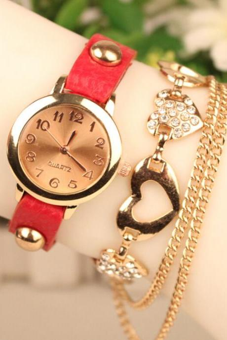 Heart Tassel Crystal Watch