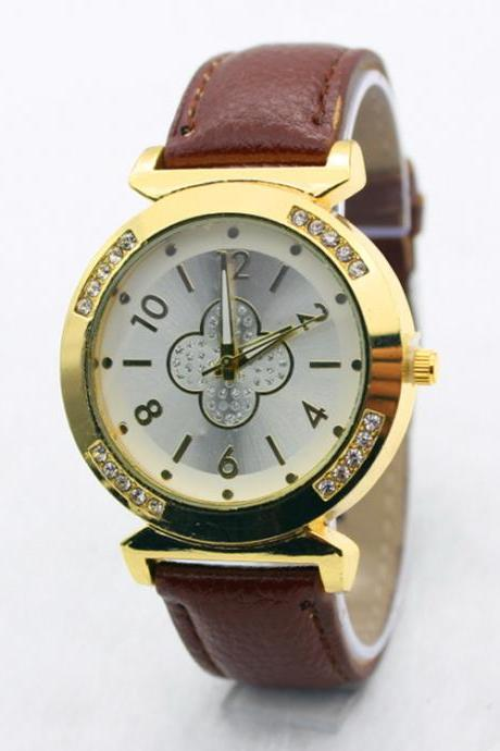 Simple Flower Solid Color Watch