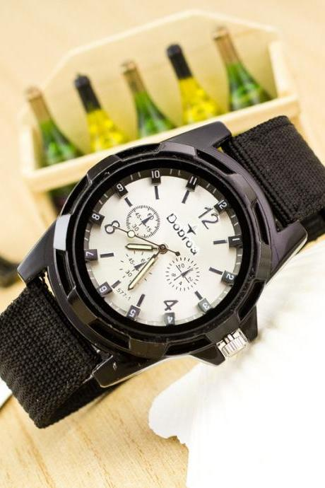 Canvas Strap Woven Army Watch