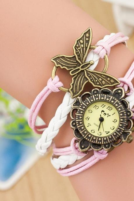 Butterfly DIY Woven Bracelet Watch