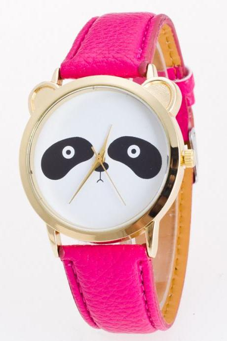 Fashion Leisure Panda Animal Watch