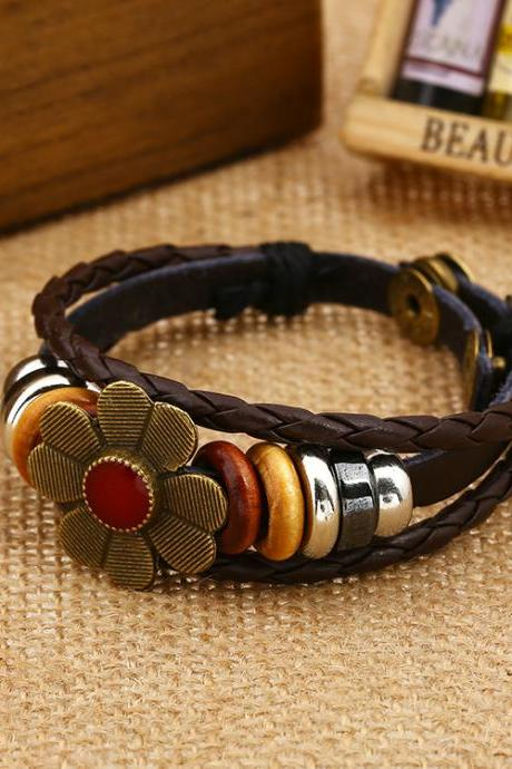 Sweet Little Flower Woven Beaded Bracelet