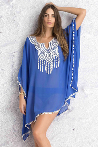 Chiffon Bat Sleeve Casual Bikinis Cover Ups