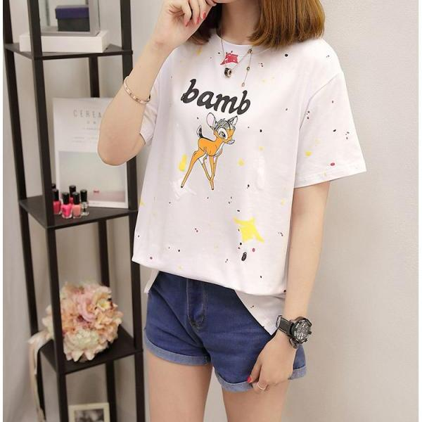 2017 New Fashion Round Collar Printed Short Sleeve T-Shirt