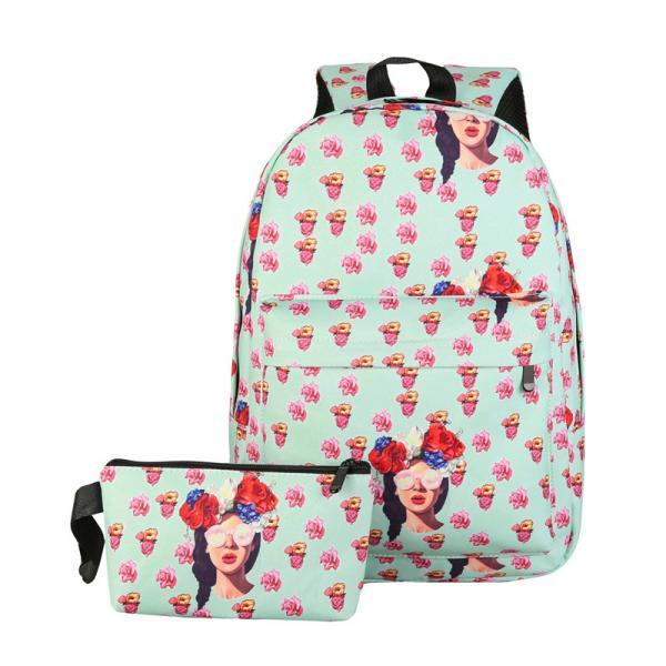 Personality Printing Canvas Bag Set